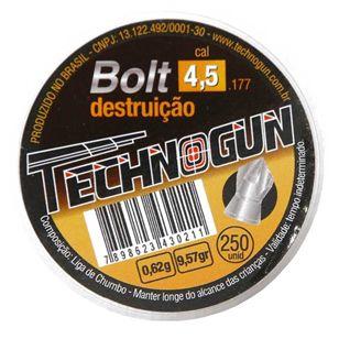 Chumbinho Technogun Bolt Destruição 4.5MM C/250