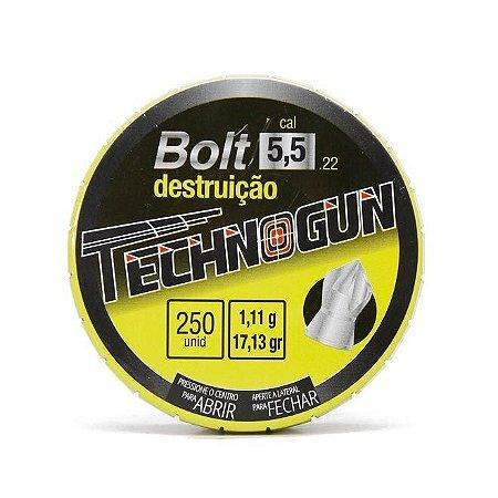 Chumbinho Technogun Bolt Destruição 5.5MM C/250