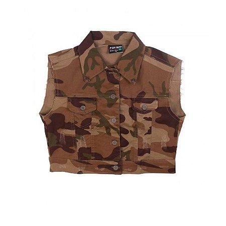 Colete Army Fox Boy- Desert Brown