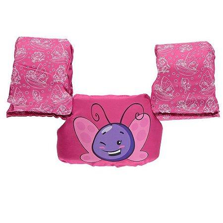 Colete Salva Vidas Ativa Infantil Borboletinha- Rosa