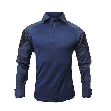 Combat Shirt Raglan -Azul/Azul