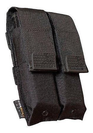 Porta Carregador Duplo Pistola Feline Preto
