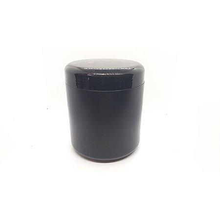Pote plastico 500 g c/t cor preto