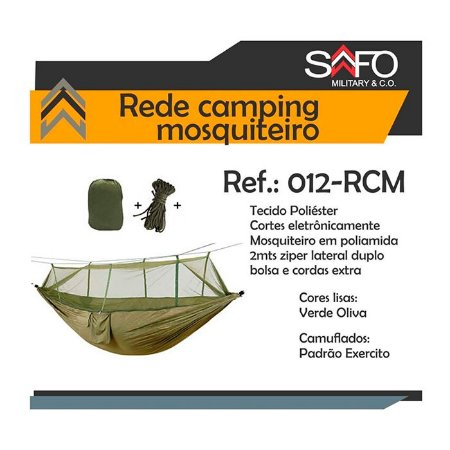 Rede Camping C/Mosquiteiro Safo