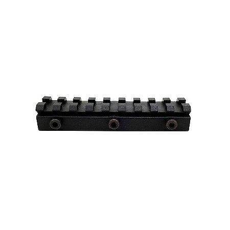 Suporte Adaptador De Trilho De 11mm Para 20mm- Polímero