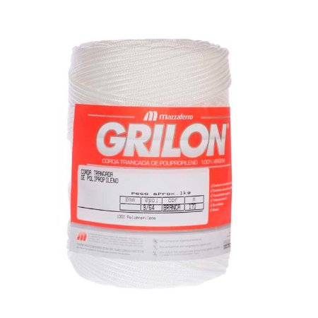 Corda Trançada Polipropileno Grilon 1Kg 285M-2,5mm