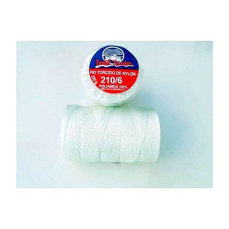 Fio Torcido de Nylon Têxtil Sauter 210/6 BCO PCT 200G
