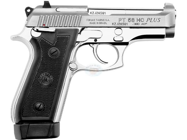 Pistola Taurus 58 HC Plus Inox .380