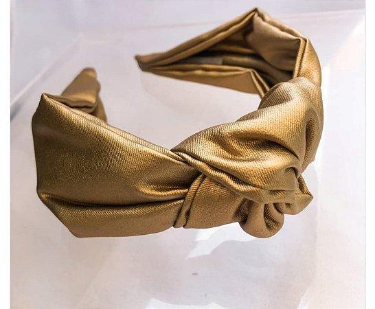 Tiara nó Metalizado Dourado