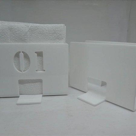 Porta Guardanapo em acrílico kit com 05 unidades