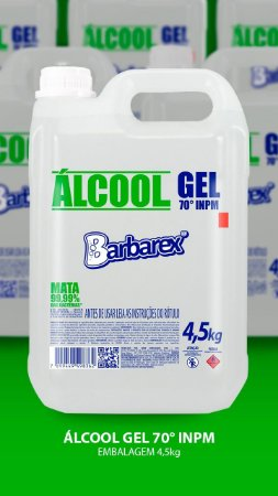 Álcool em gel 4,5 kg