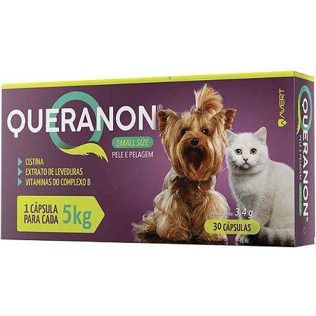 Suplemento Alimentar Queranon para Cães e Gatos Small Ate 5 kg  30 Cápsulas