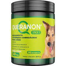 Suplemento Vitamínico Aminoácido Avert Queranon Stick's para Cães 10kg  30 Stick's