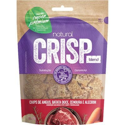 Petisco Natural Crisp Chips de Angus, Batata Doce, Cenoura e Alecrim