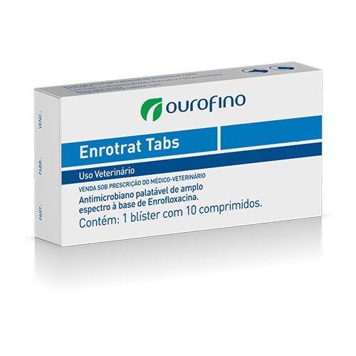 Enrotrat Antimicrobiano com 10 Tabletes OuroFino