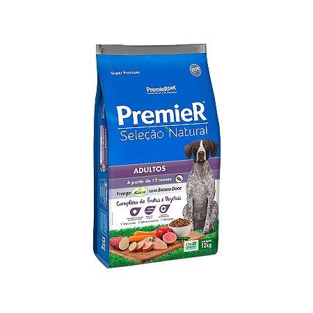 Ração Premier Seleção Natural para Cães Adultos Sabor Frango com Batata Doce 12kg