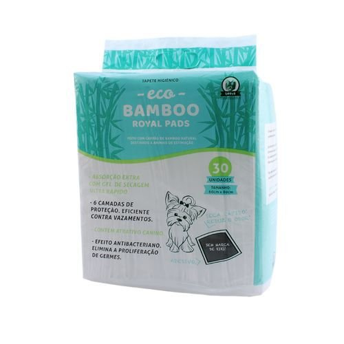 Tapete Higiênico Beeva Eco Bamboo com 30 unidades
