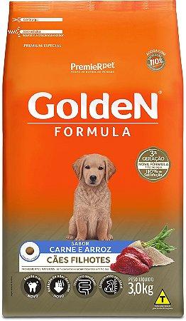 Ração Golden Formula para Cães Filhotes Carne e Arroz