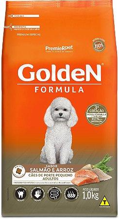 Ração Golden Formula para Cães Adultos Porte Pequeno Mini Bits Salmão e Arroz