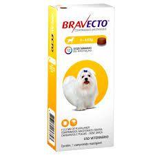 Bravecto Antipulgas e Carrapatos para Cães de 2 a 4,5Kg 112.5mg 1 Comprimido Msd