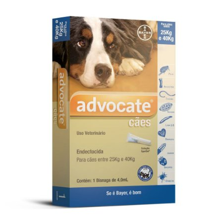 Advocate Cães 4.0ml Acima 25kg Bayer