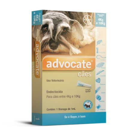 Advocate Cães 1.0ml 4 a 10kg Bayer