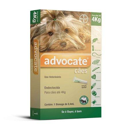 Advocate Cães 0.4ml Ate 4kg Bayer