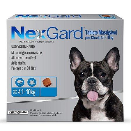 Nexgard Medium 4 a 10kg 1.25g Boehringer Ingelheim
