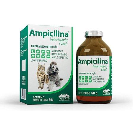 Ampicilina Vet Antibiotico Oral 50g Vetnil