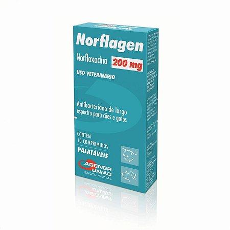 Norflagen Antibiótico 200mg 10 Comprimidos Agener