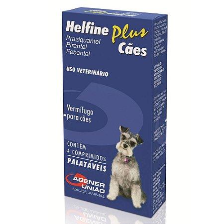 Helfine Plus Antiparasitário Cães 4 Comprimidos Agener