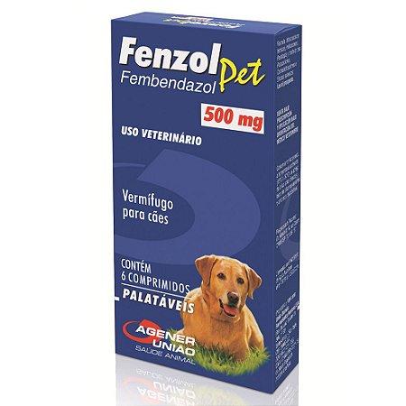 Fenzol Pet   Antiparasitário 6 Comprimidos Agener