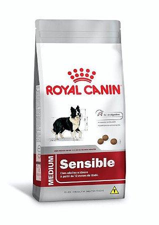 Ração Royal Canin para Cães Adultos Raças Médias Medium Sensible 15kg
