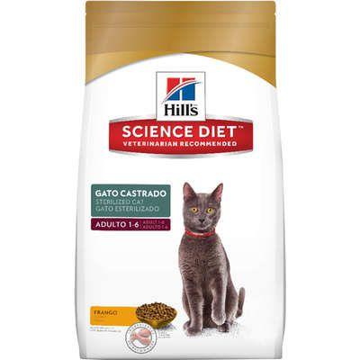 Ração Hill's Science Diet Sabor Frango para Gatos Adultos Castrados