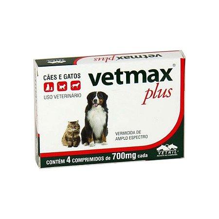 Vetmax Plus Vermífugo com 4 Comprimidos