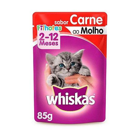 Whiskas Sachê Gato Filhote Carne ao Molho 85g