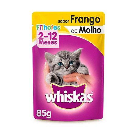Whiskas Sachê Gato Filhote Frango ao Molho 85g