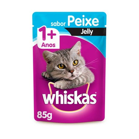 Whiskas Sachê Gato Adulto Peixe Jelly 85g