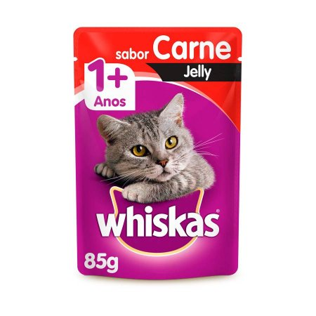 Whiskas Sachê Gato Adulto Carne Jelly 85g