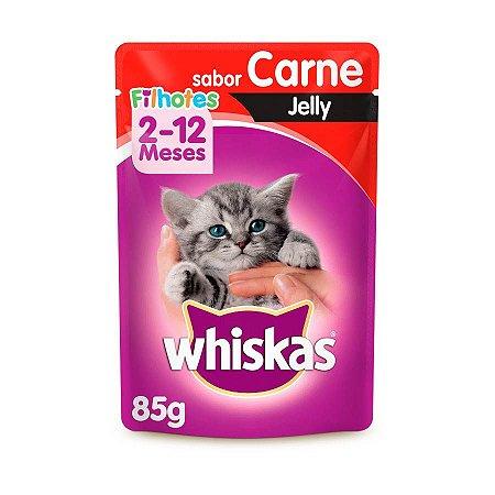 Whiskas Sachê Gato Filhote Carne Jelly 85g