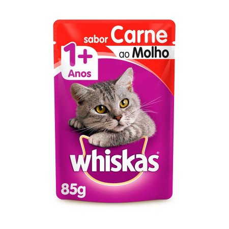 Whiskas Sachê Gato Adulto Carne ao Molho 85g
