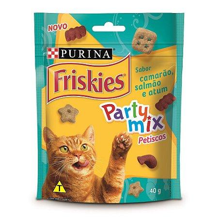 Friskies Petisco para Gatos Adultos Party Mix Camarão Atum e Salmão 40g