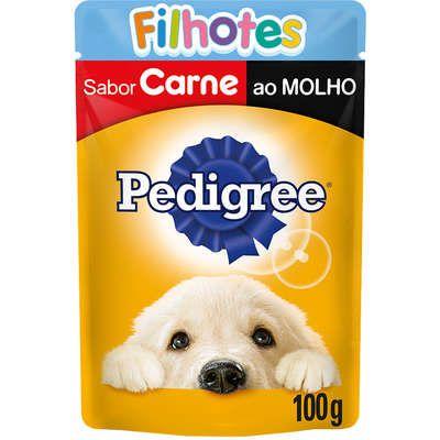 Pedigree Sachê Câes Filhotes Carne ao Molho 100g