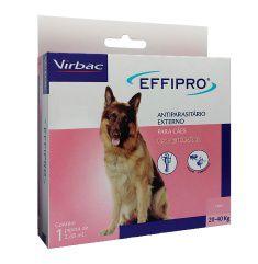 Effipro Antiplugas e Carrapatos para Cães de 20kg a 40Kg 2,68mL Virbac