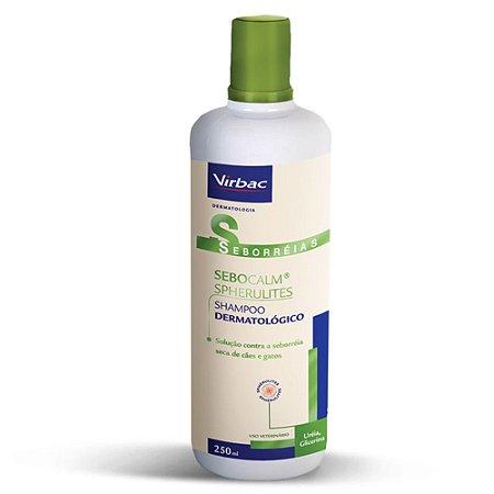Sebocalm Spherulites Shampoo para Cães e Gatos 250mL Virbac