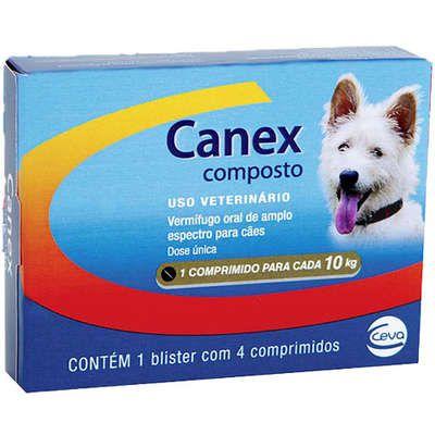 Canex Composto Vermífugo com 4 Comprimidos