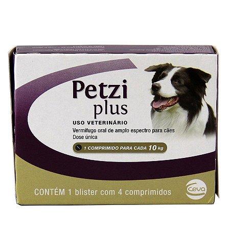 Petzi Plus Vermífugos Cão com 4 Comprimidos