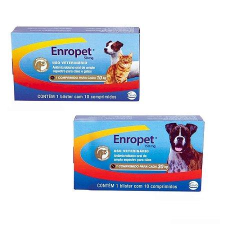 Enropet Antibiótico com 10 Comprimidos