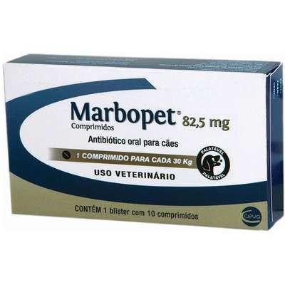 Marbopet Antibiótico 82.5mg 10 Comprimidos