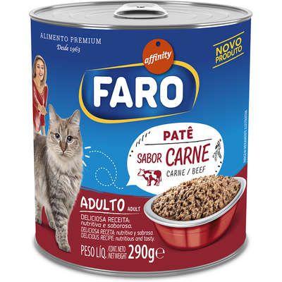 Ração Úmida Faro Patê Para Gatos Sabor Carne 290G